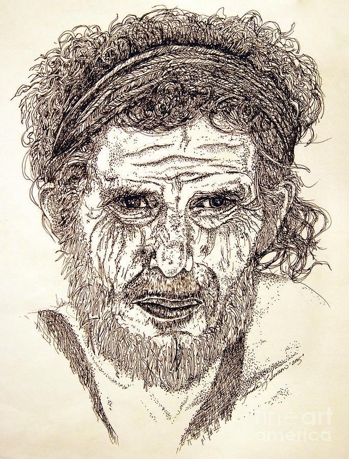 Man Drawing - Hobo by Linda Simon