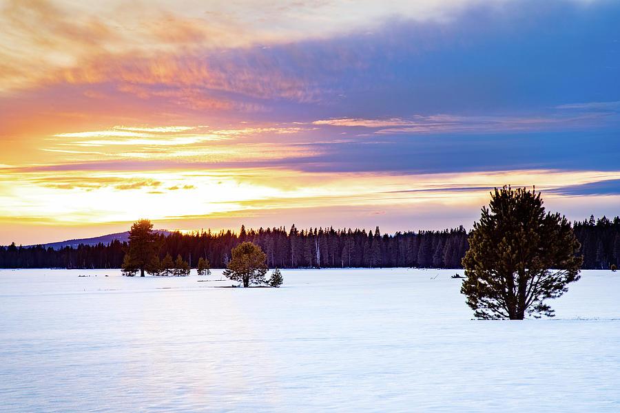 Hog Flat Winter Sunset Photograph