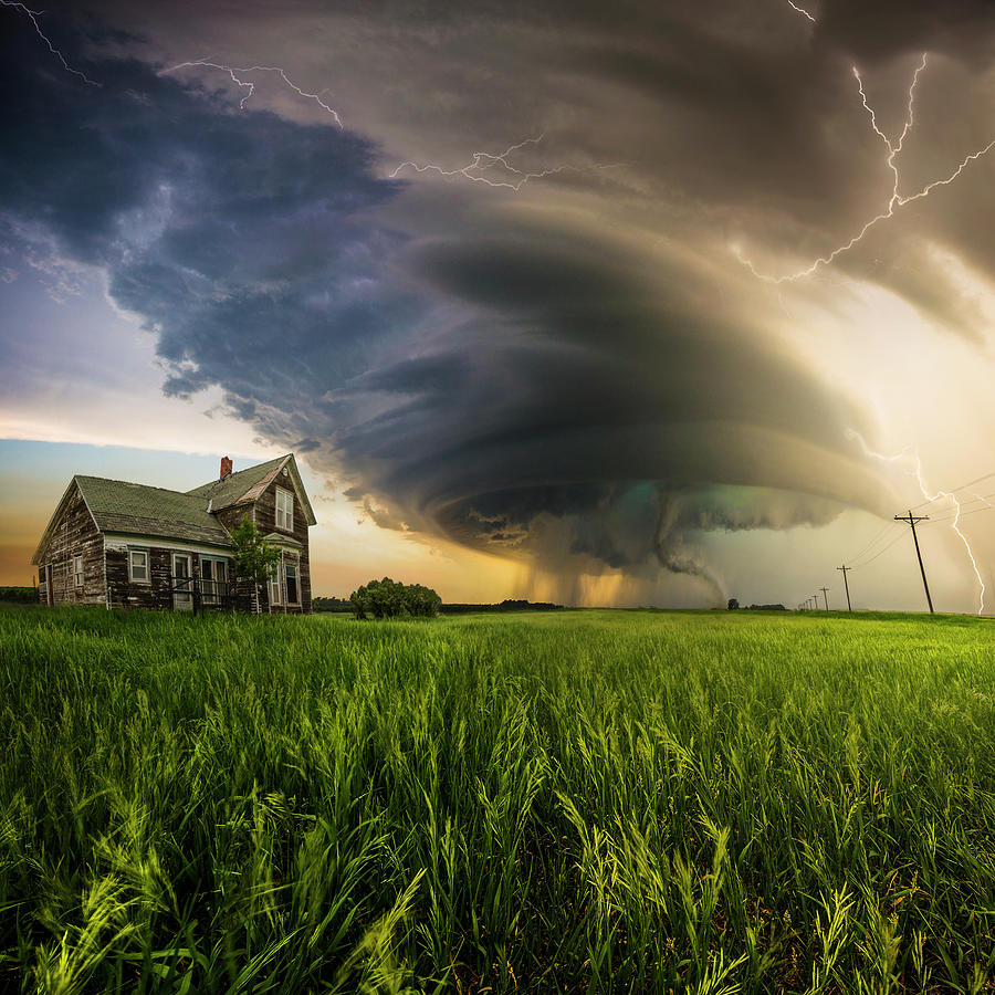 Severe Weather Photograph - Hold On  by Aaron J Groen