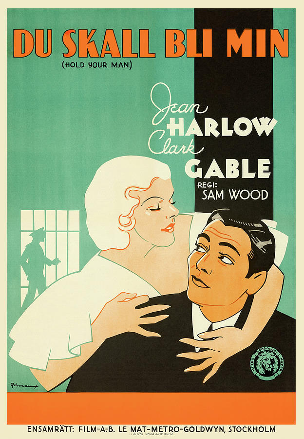 hold Your Man, With Clark Gable And Jean Harlow, 1933 Mixed Media