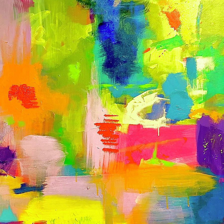 Abstract Painting - Holding Onto Joy by Margot Sappern