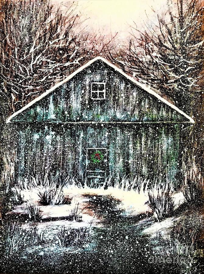 Holiday Cabin in the Woods by Allison Constantino