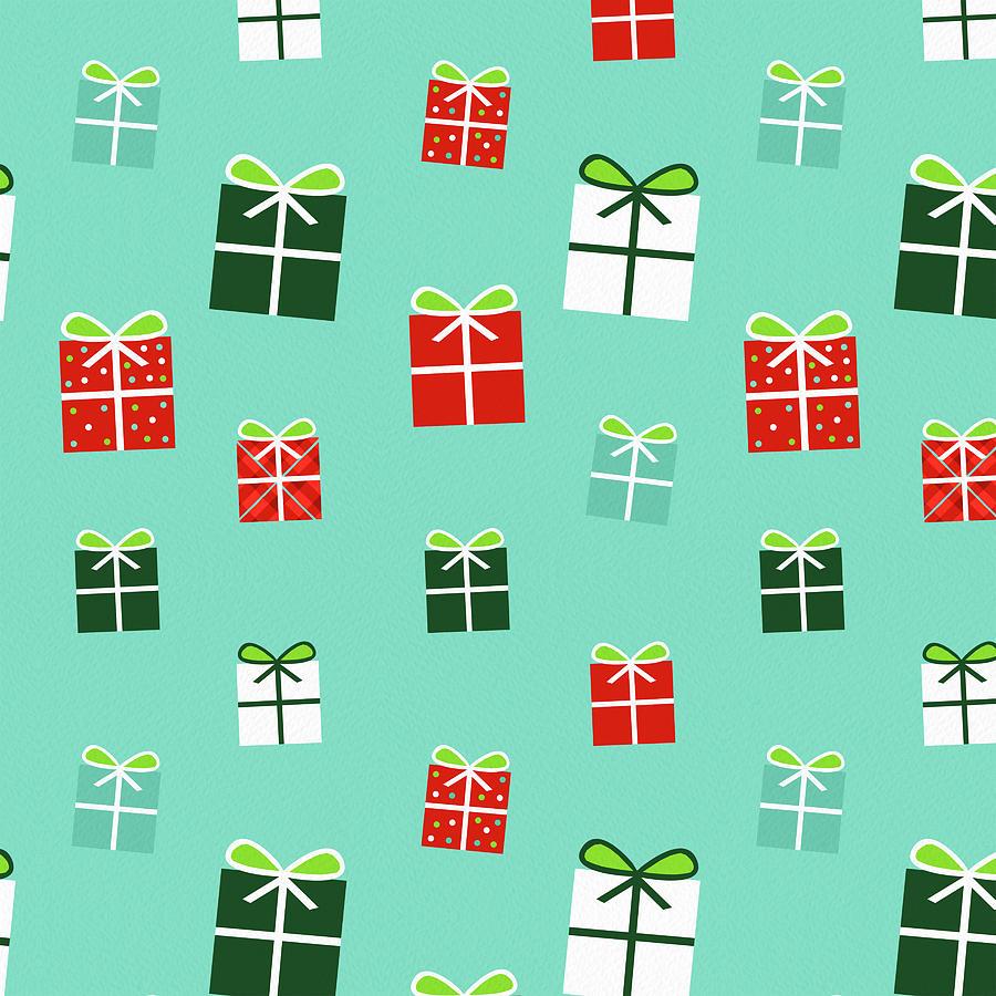 Gifts Painting - Holiday Gift Pattern - Jen Montgomery by Jen Montgomery