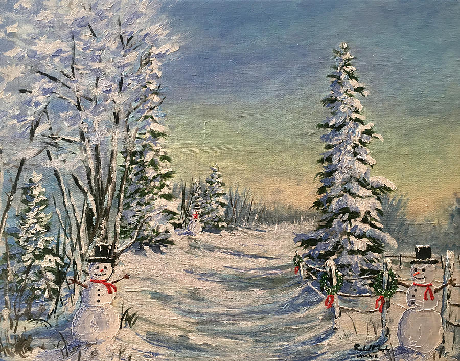 Oil Paintings Painting - Holiday Homecoming No 2 by Roland Miguel