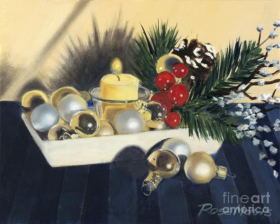 Stilllife Painting - Holiday Still Life by Rose Mavis