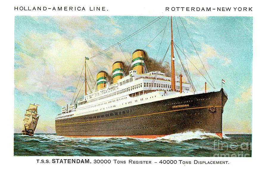 Holland America Line Rotterdam New York Tss Statendam Painting