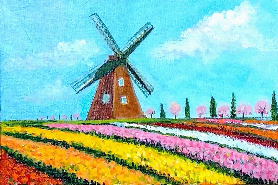 Holland windmills by Asha Sudhaker Shenoy