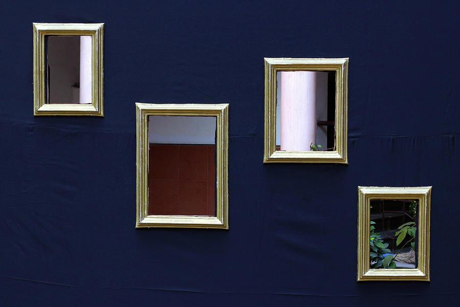 Minimalism Photograph - Hollow Photo Frames by Prakash Ghai