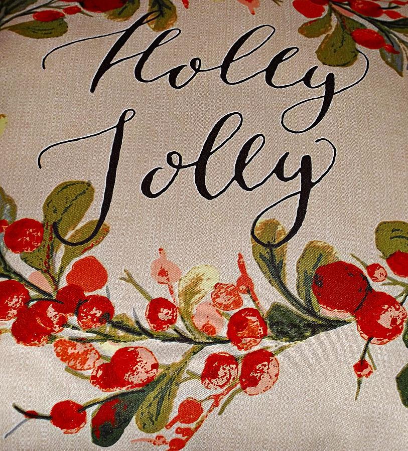 Holly Christmas Mixed Media