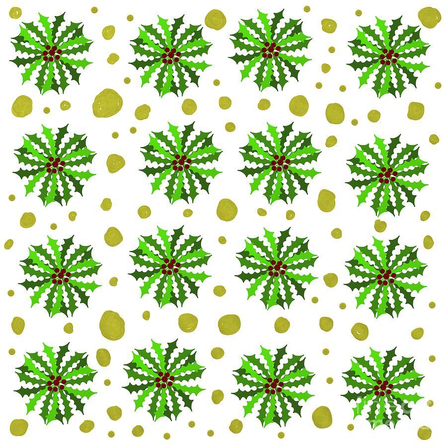 Holly Pattern Digital Art