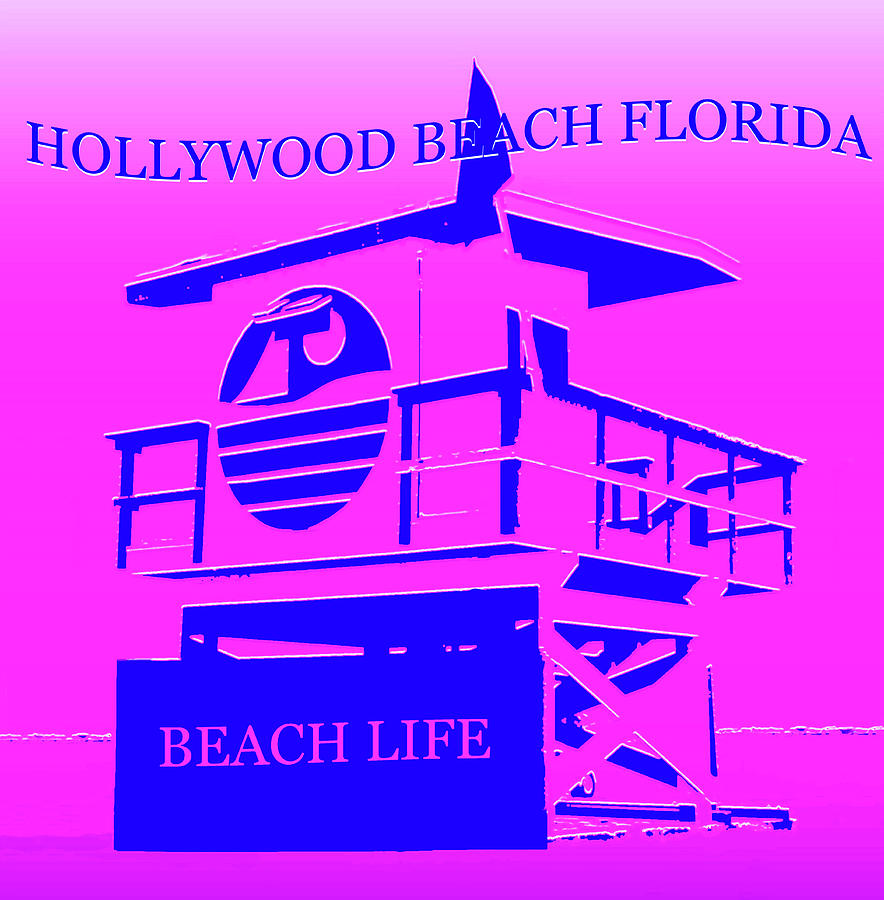 Hollywood Beach Florida Mixed Media