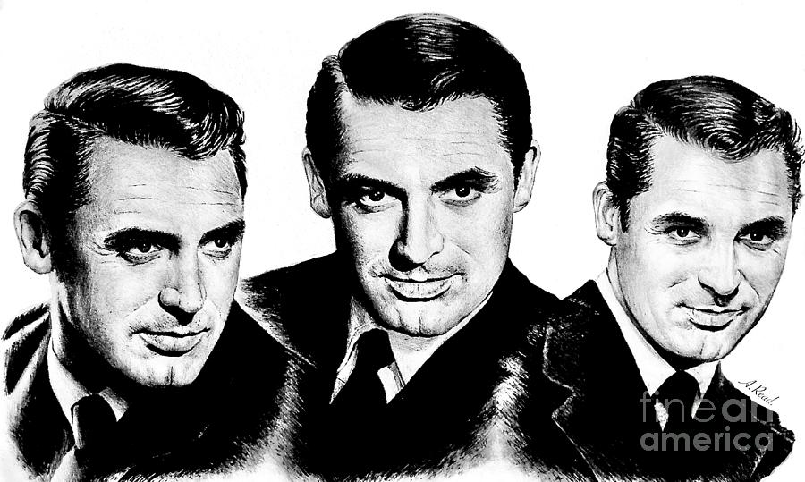 Hollywood Icons Cary Grant Drawing