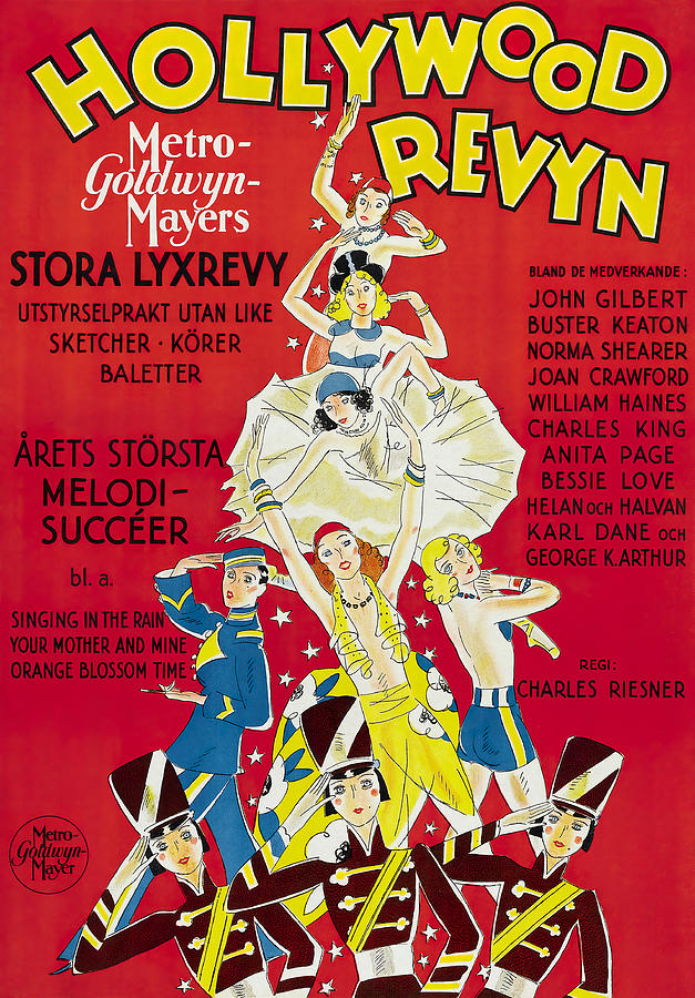 Hollywood Mixed Media - Hollywood Revue of 1929 by Stars on Art