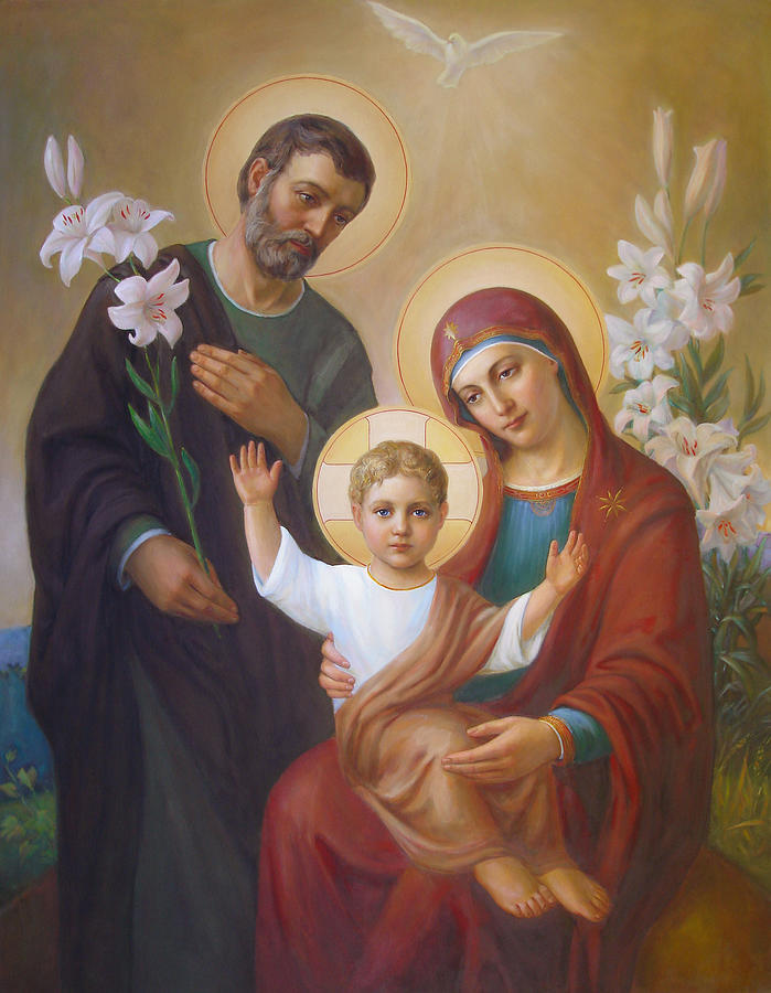Jesus Painting - Holy Family by Svitozar Nenyuk