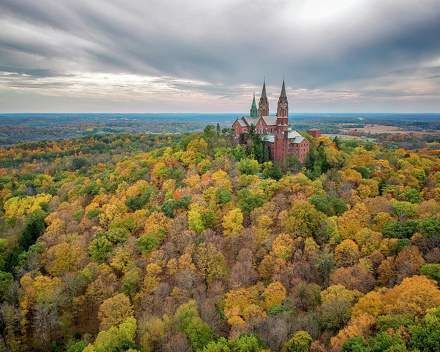 Holy Hill National Shrine in Fall by Adam Romanowicz