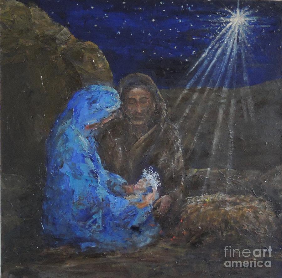 Christmas Painting - Holy Night by Elizabeth Roskam