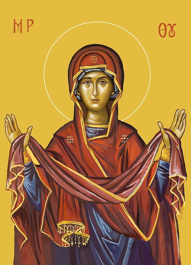 Holy Protection Study Digital Art