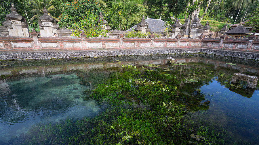 Holy spring water in Bali Photograph by Shaifulzamri