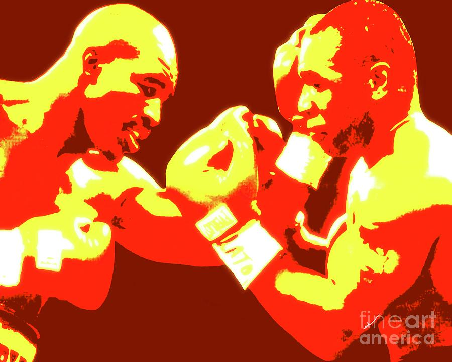 Holyfield Painting - Holyfield vs Tyson by Jack Bunds