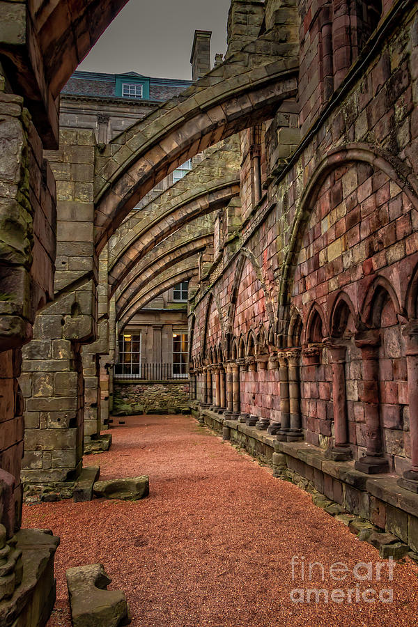 Holyrood Abbey Archway Supports Photograph