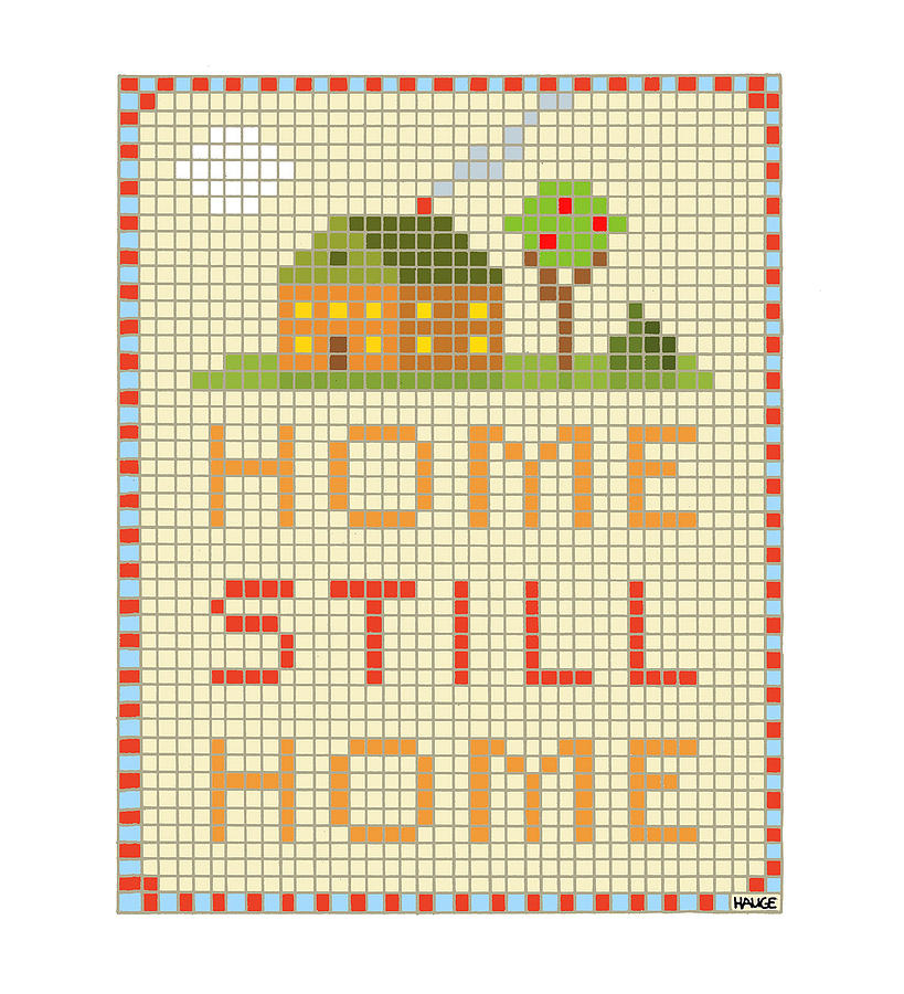 Home Still Home Drawing by Ron Hauge
