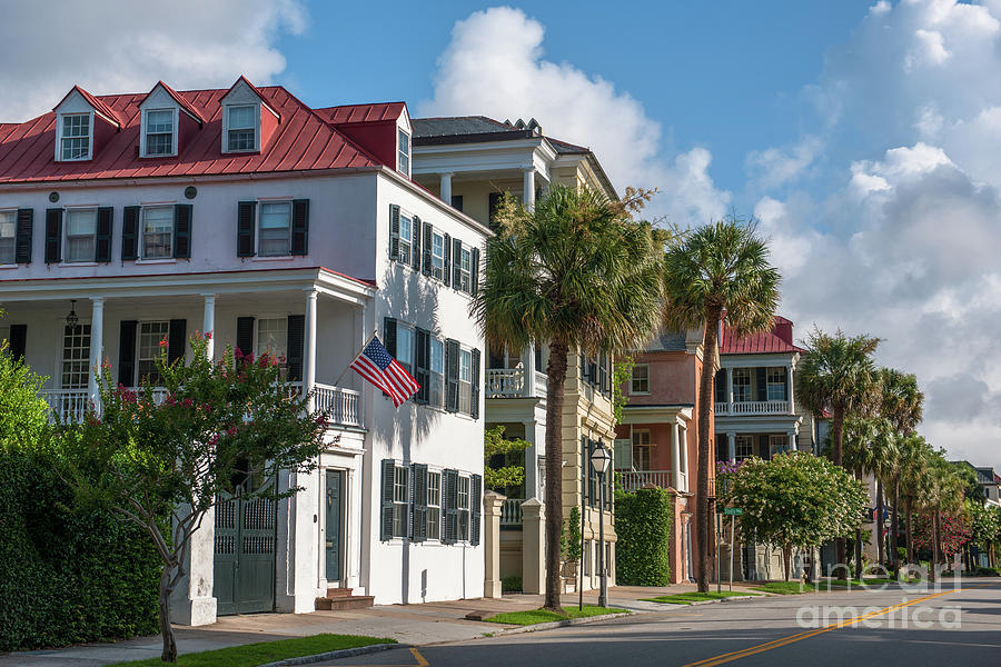 Homes Of Charleston - East Bay Street Photograph