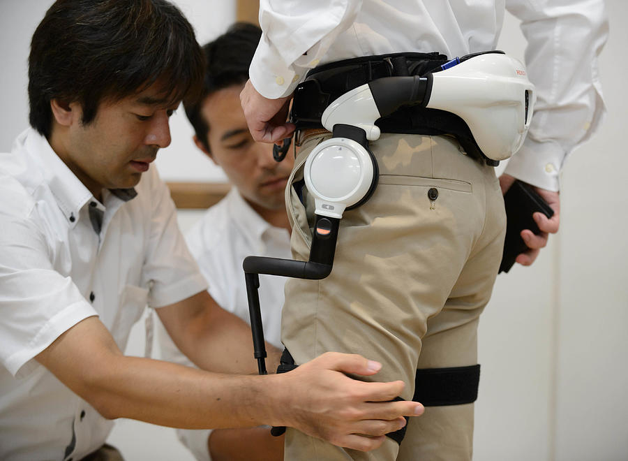 Honda Motor Co. Demonstrates Walk Assist And Mobility Device Photograph by Bloomberg