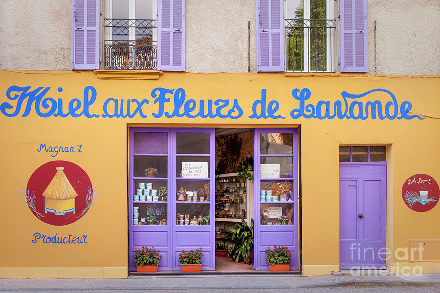 Honey And Lavender Shop - Provence France Photograph