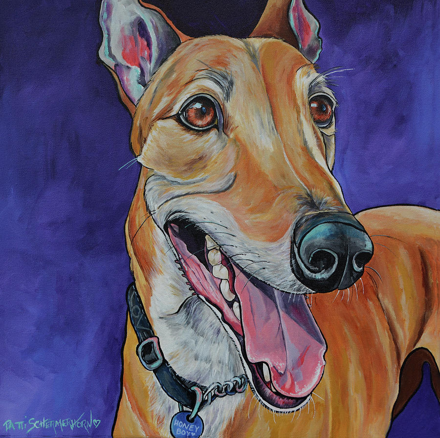 Honey Boy the Greyhound by Patti Schermerhorn