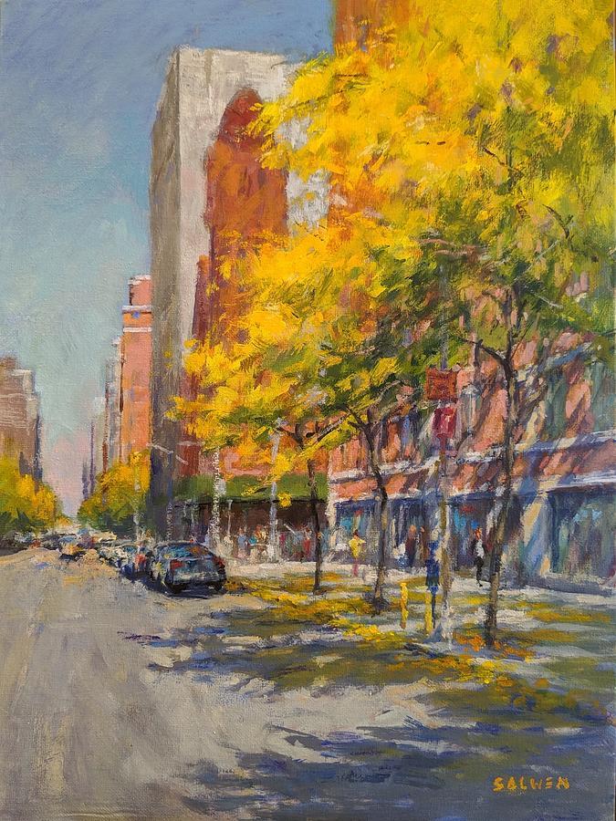 Trees Painting - Honey Locust Shadows by Peter Salwen