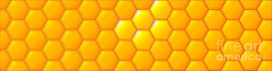 Honeycombe Hexagonal Web Banner background by Bigalbaloo Stock