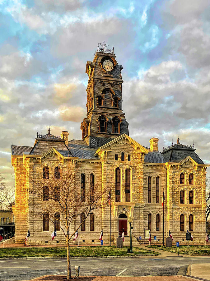 Hood County Courthouse At Sunset Photograph