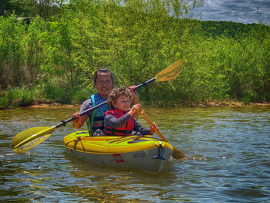 Kayak Photograph - Hooked by Jim Cook