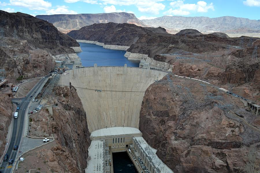Hoover Dam from the Bridge by RD Erickson
