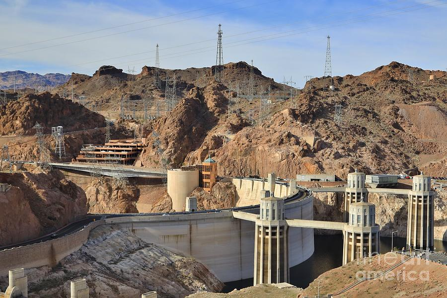 Hoover Dam In The Desert Valley Photograph
