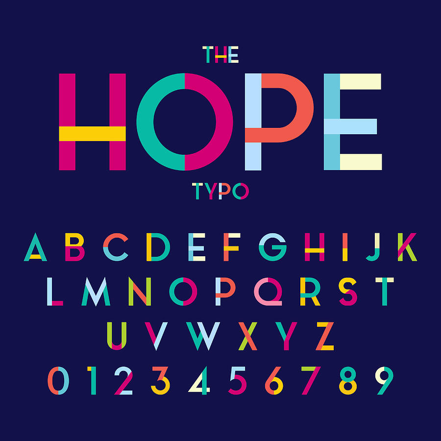 Hope alphabet Drawing by Vectorios2016