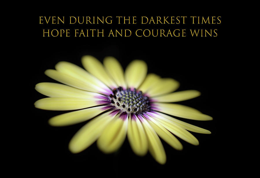 Hope Faith And Courage Wins 2 Photograph