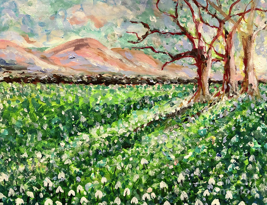 Snowdrops Painting - Hope Springs by Jacqui Hawk