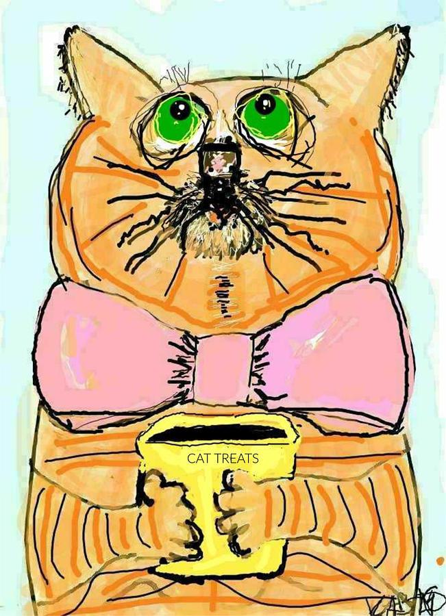 Hopeful Cat by Kathy Barney