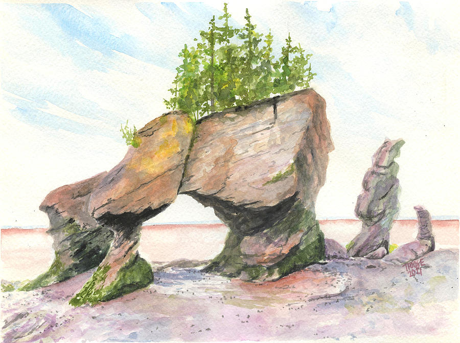 Hopewell Rocks Painting