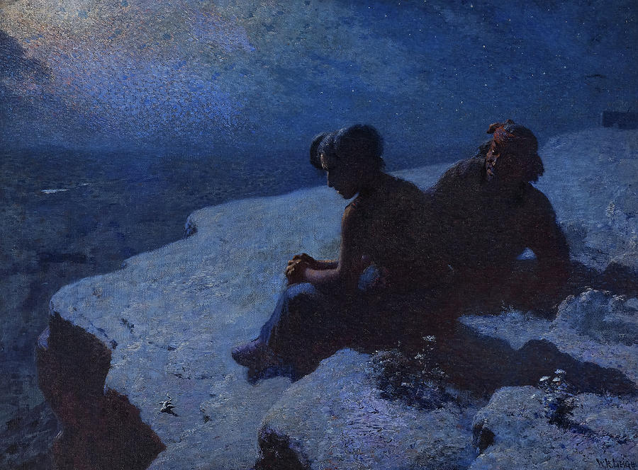 William Robinson Leigh Painting - Hopi Courtship, Yes Or No, 1915 by William Robinson Leigh
