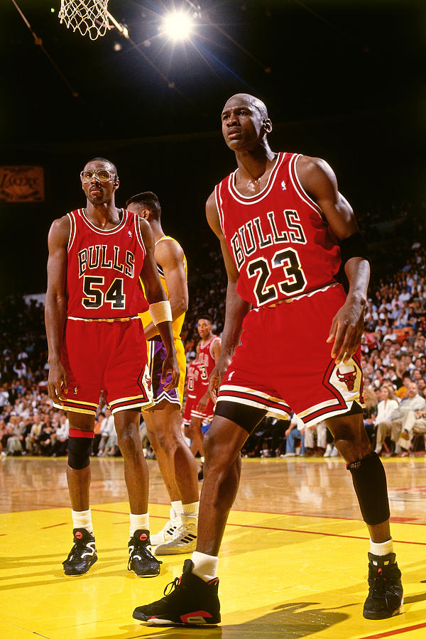 Horace Grant and Michael Jordan Photograph by Andrew D. Bernstein