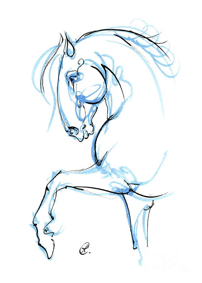 Horse ink art 2019 12 03 by Angel Ciesniarska