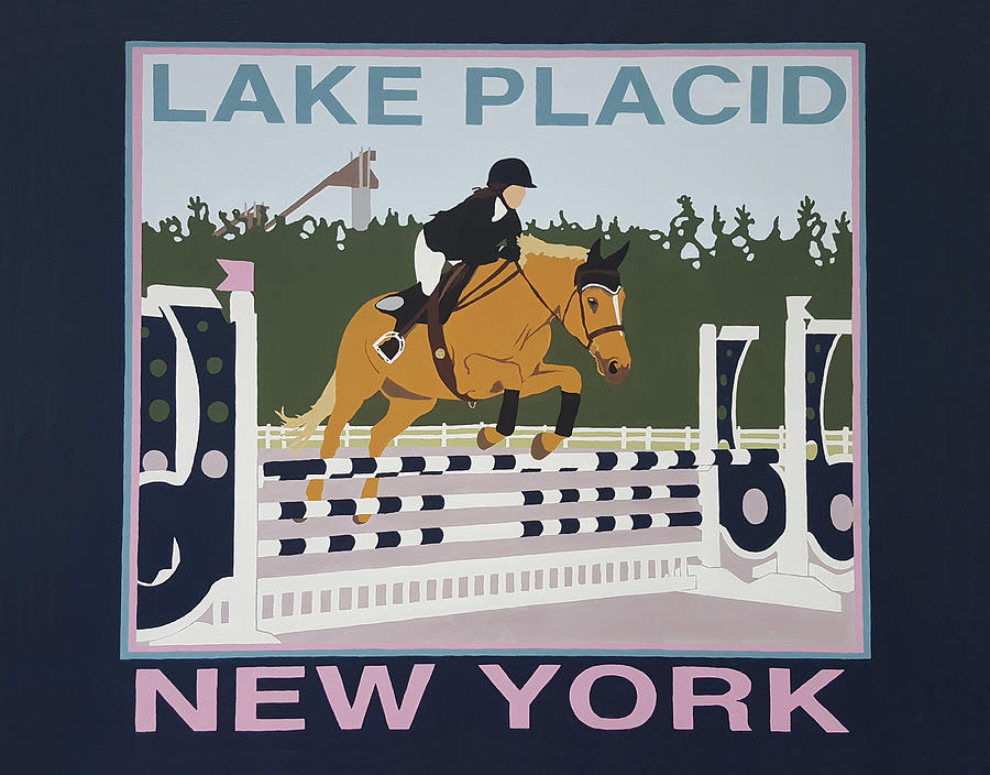 Lake Placid Horse Show Painting by Joanne Orce