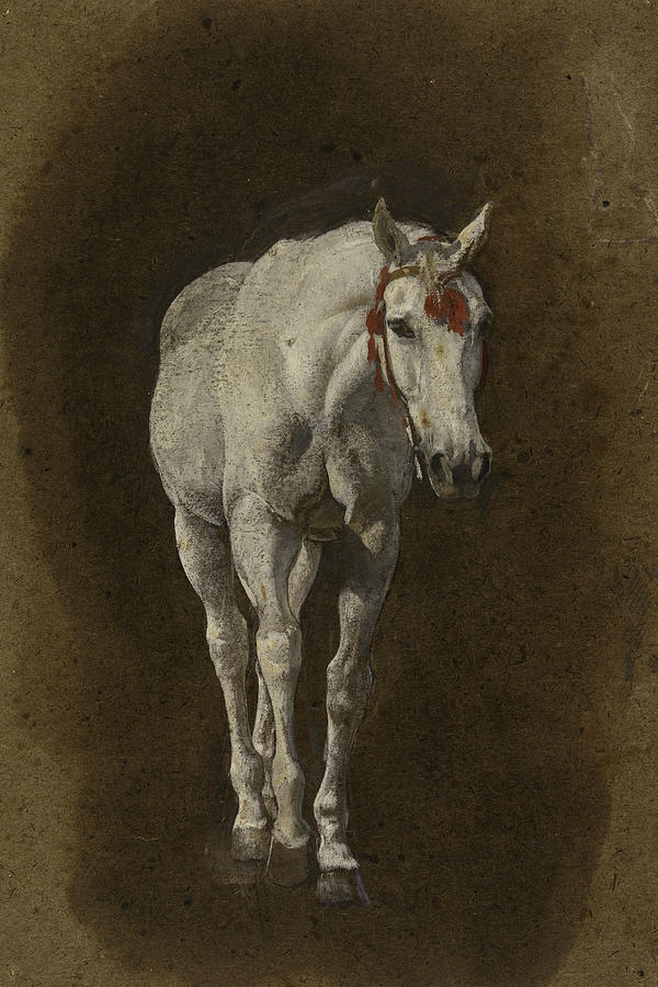 Horse by Leon Bonnat