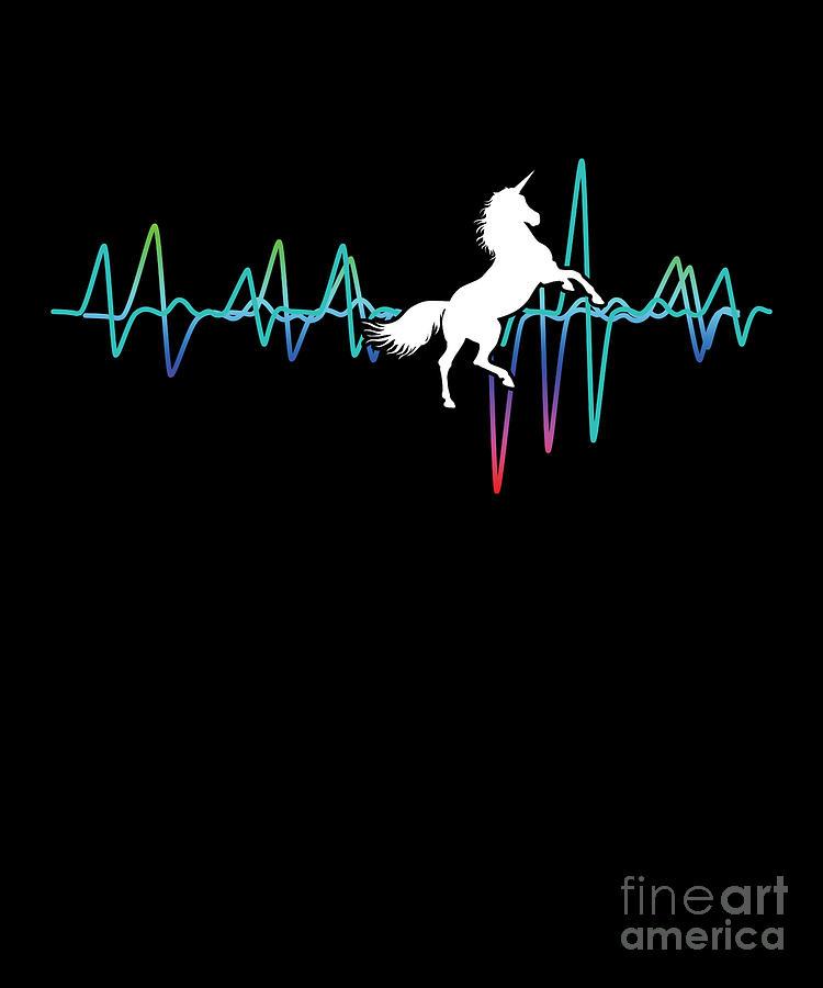 Horse Magical Creature Magic Fantasy Unicorn Rainbow Heartbeat Horses Gift Digital Art By Thomas Larch