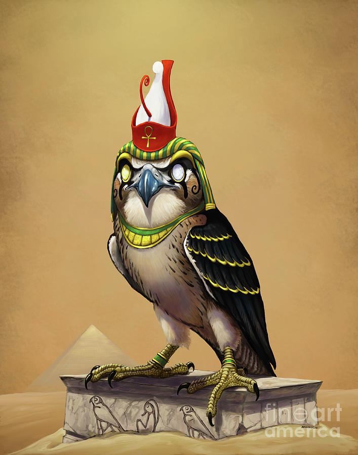 Horus Egyptian God by Stanley Morrison