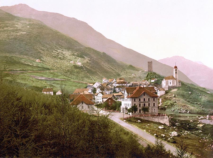 Hospental, Uri, Switzerland 1890. Photograph