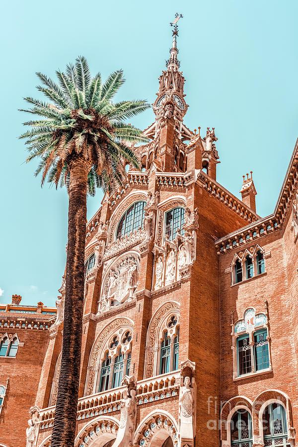 Hospital Santa Creu Sant Pau In Barcelona, Barcelona City Urban Art Print, Modernism Architecture Photograph