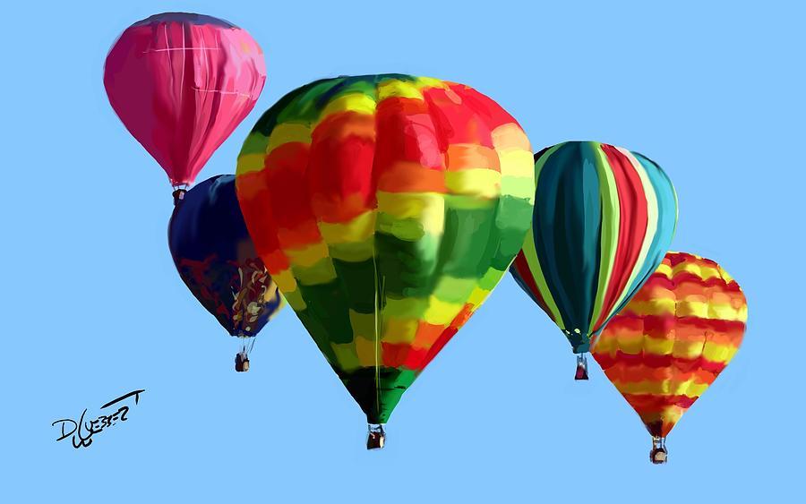 Hot Air Balloons Digital Art